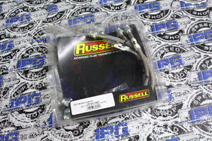 Russell Stainless Steel Braided Brake Lines For 1999 2000 Honda Civic Si Em1