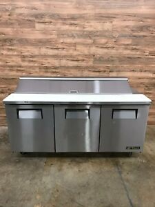 2016 True Tssu 72 18 72 Triple Door Refrigerated Sandwich Prep Table 115 V
