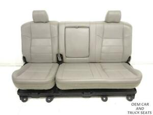 Ford Super Duty F250 F350 Stone Leather Crew Cab Rear Seat W tray 2008 2009 2010