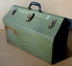 Vintage Duplex Ww2 Army Mechanic Carry Tool Box Chest Tray Type B Staxif