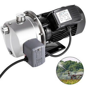 1 0hp 18 5gph Shallow Well Jet Pump W pressure Switch 110v Farms Homes 147 6 Ft