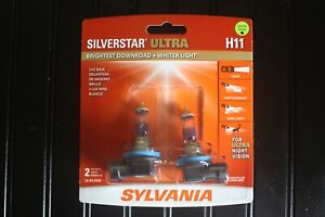 Sylvania Silverstar Ultra H11 Halogen Bulbs Dual Pack Brand New And Sealed