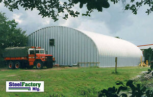 Steel Factory Mfg S40x78x16 Metal Arch Agricultural Barn Storage Building Kit
