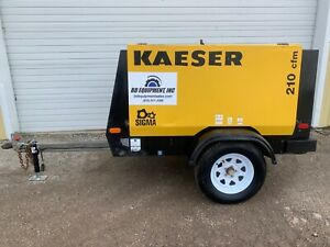 2008 Kaeser M57 Portable Diesel Air Compressor 210 Cfm 100 Psi 1892 Hours