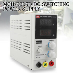 Mch k305d Switchin Power Supply Adjustable Regulator Single Channel 0 30v 60hz