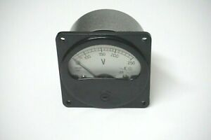 0 250v Russian Ac E8021 8021 Military Analog Voltmeter From 1983