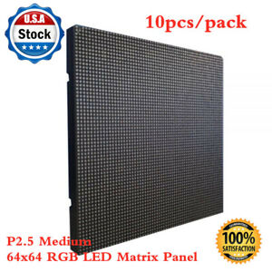 Us Stock 10pcs pack Indoor Led Display P2 5 Medium 64x64 Rgb Led Matrix Panel