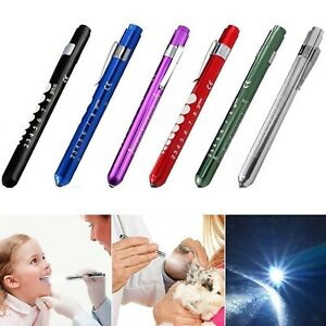 Portable Medical Flashlight First Aid Pen Light With Pupil Gauge Measurement New
