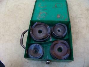 Greenlee 2 1 2 4 Knockout Punch Die Set Complete W Box