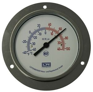 Ltr Hvac Thermometer 02 39 Analog Panel Diam 80 St Steel Case 1 5 Mt Capillary