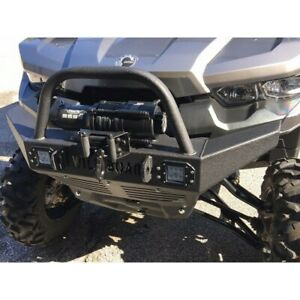 Can Am Defender Front Winch Bumper With Led Lights