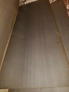 7 Sheets 4 x10 Diamond Plate Steel 1 16