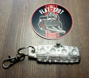 Ford Flathead Head Key Chain Fob 59ab Hot Rod Rat Offenhauser Edelbrock Heads