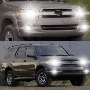 For Toyota Sequoia 2001 2007 4pc 6000k White Combo Led Headlights Fog Bulbs