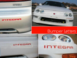 Dkm Red Front Rear Bumper Inserts Acura Integra 1998 2001 Not Decals