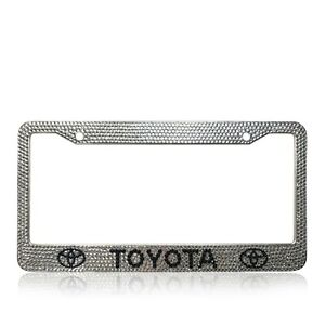 Toyota Dimaond Bling Custom Handmade Crystal Stainless Steel License Plate Frame