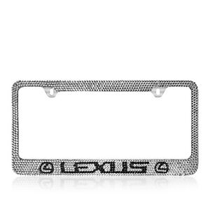 Lexus Bling Bling Custom Handmade Crystal Stainless Steel License Plate Frame