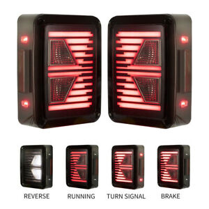 2 Pcs Led Tail Lights Reverse Light Turn Signal Lamps For Jeep Wrangler Jk 07 18