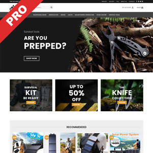 Survival Prepper Store Professional Dropshipping Website Business For Sale