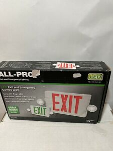 Cooper Lighting Apc All pro Emergency Combo Led Exit Sign With Dual Lights green