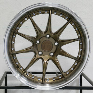 4 New 19 Aodhan Ds07 Ds7 Wheels 19x9 5 19x11 5x114 3 22 22 Bronze Staggered Rim