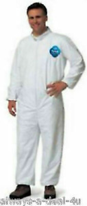 Tyvek 09417 Disposible Coverall_collar Zipper_elastic Wrists Ankles