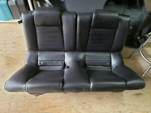 Oem Ford Mustang Gt Coupe Leather Rear Seat Black 2005 2006 2007 2008 2009