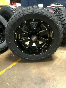 5 20x10 Moto Metal Mo962 33 Mt Wheel Tire Package Set 5x5 Jeep Wrangler Jk Jl