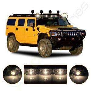 5x Smoke Cab Roof Marker Clearance Lamps T10 Warm White Led For 03 09 Hummer H2