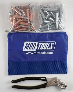 25 1 8 25 3 32 Cleco Fasteners Cleco Pliers W Mesh Carry Bag k4s50 3