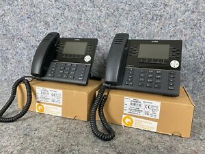 Grade A lot Of 2 two Mitel Mivoice 6930 Ip Phone 50006769 In Box W Stands