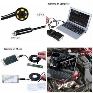Android Usb Endoscope Inspection Camera 8mm Or Surveying Pipes Car Repairing