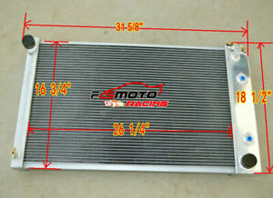 3 Row For 70 81 Chevy Camaro 75 79 Nova 70 87 Buick Regal K20 Aluminum Radiator