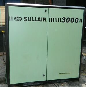 40hp Sullair Model 3009 a Rotary Screw Air Compressor With 125 Psig 135 Max