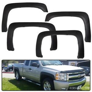 Pp Fit For 07 13 Chevy Silverado 1500 2500hd 3500hd Fender Flares Textured Black