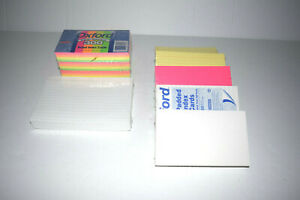 Lot Of Oxford Neon Glow Ruled Index Cards Front Ruling Surface Ruled 3 X 5