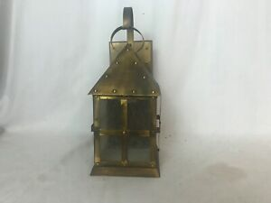 Vintage Brass Look Tudor Or Arts And Craft Style Porch Light Wall Sconce