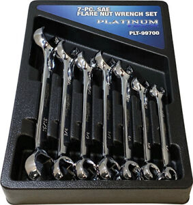 Platinum Tech 7pc Sae Flare Nut Line Wrench Set 1 4 To 1 99700