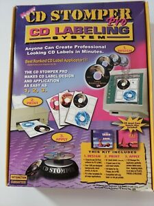 Cd Stomper Pro Cd Dvd Labeling System Brand New Sealed Package
