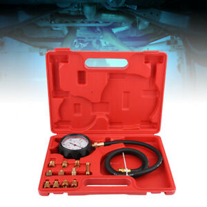 Automatic Gearbox Transmission Engine Oil Feul Pressure Tester Gauge Kit 500psi