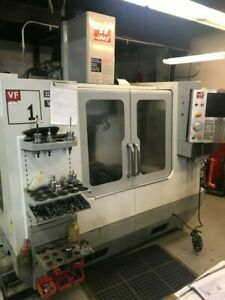 Used 2008 Haas Vf 1 Cnc Vertical Machining Center Mill Usb Rigid Tap Cat 40 20hp