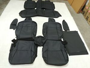 Leather Seat Covers Interior Replacement Fits Honda Civic Ex Si Coupe Black X94