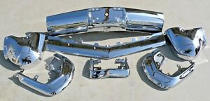 Cadillac New Triple Plated Chrome Front Impact Bumper 1964 64 Oem