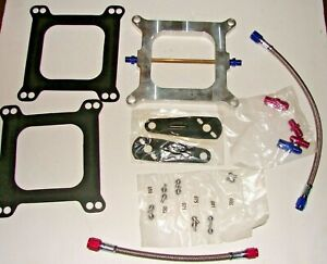 Nitrous Plate Kit 75 100 125 150 175 200 225 250 Edelbrock nos zex holley Carb