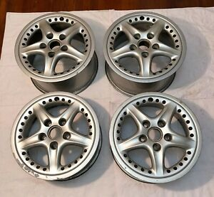 Oem Porsche 911 930 964 986 993 Targa Speedline 2pc 17 Wheels Rims 7x17 9x17