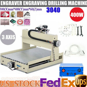 Cnc Router 3040t Engraver 3 Axis 400w Engraving Machine 3d Milling Printer Kits