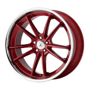 4 Wheels Asanti Black Delta Candy Red With Chrome Lip 22x10 5 Rims 5x4 5 35