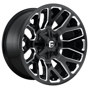 4 Wheels Fuel 1pc Warrior Gloss Black Milled 20x9 Ford F250 Rims 8x170 20