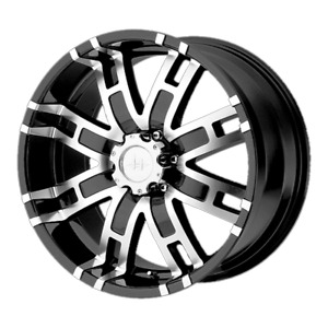 4 Wheels Helo He835 Gloss Black Machined 20x9 Ford F250 Rims 8x170 18 Offset