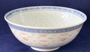 Antique Chinese Blue White Porcelain Bowl With 8 1 3